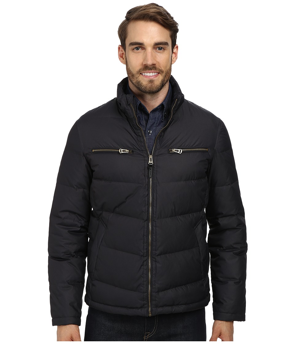 Cole Haan Down Moto Jacket (Black) Men