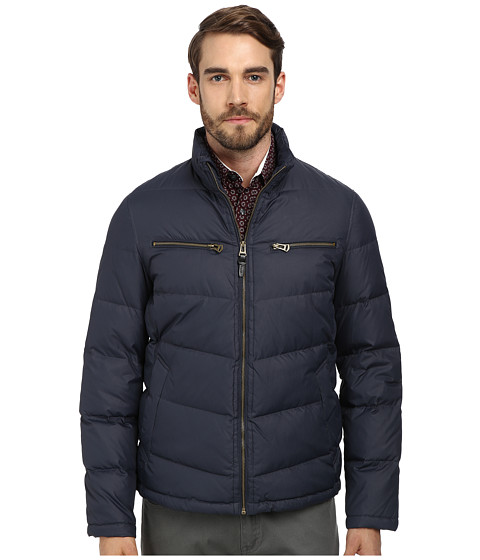 Cole Haan - Down Moto Jacket (Indian Ink) Men