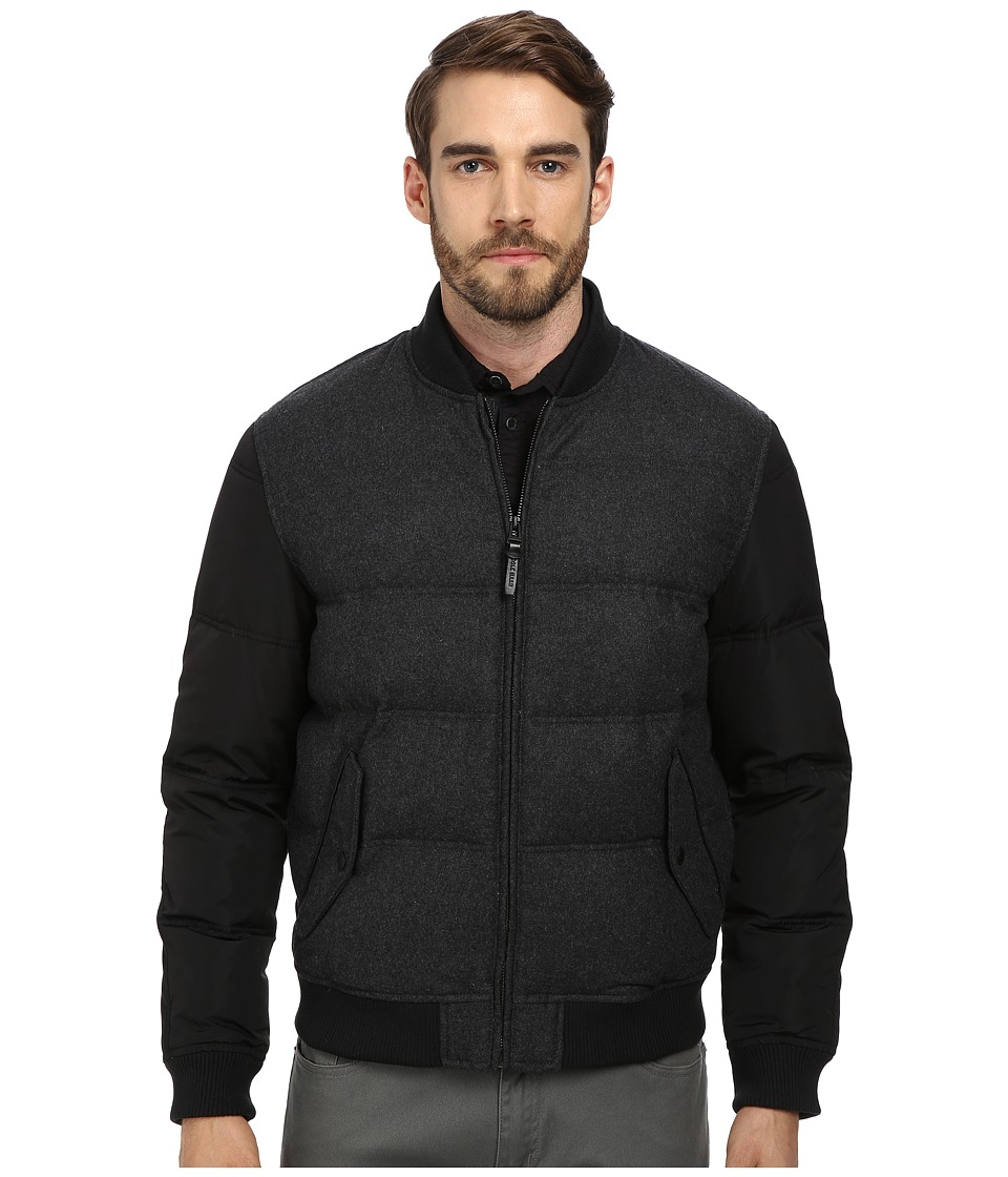 Cole Haan - Mixed Media Down Bomber (Black) Men's Coat