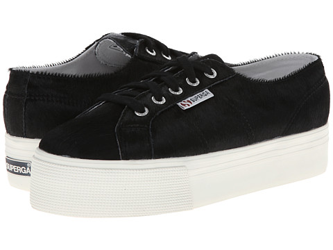Superga - 2790 Pony W (Black) Women's Lace up casual Shoes