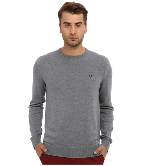 Fred Perry - Classic Crew Neck Sweater (Steel Marl) Men