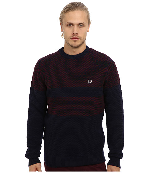Fred Perry - Pique Knit Sweater (Navy) Men
