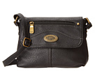 b.o.c. Potomac I Mini Flap Crossbody (Black) Cross Body Handbags