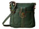 b.o.c. Sharpsburg Turn Lock Crossbody (Hunter) Cross Body Handbags