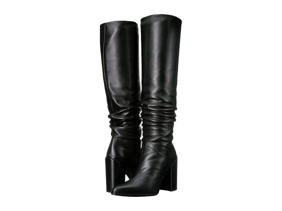 Stuart Weitzman Scrunchy (Black Nappa Leather) Women