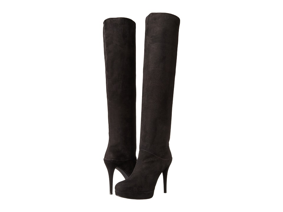 Stuart Weitzman - Scrunchy (Black Suede) Women's Dress Pull-on Boots