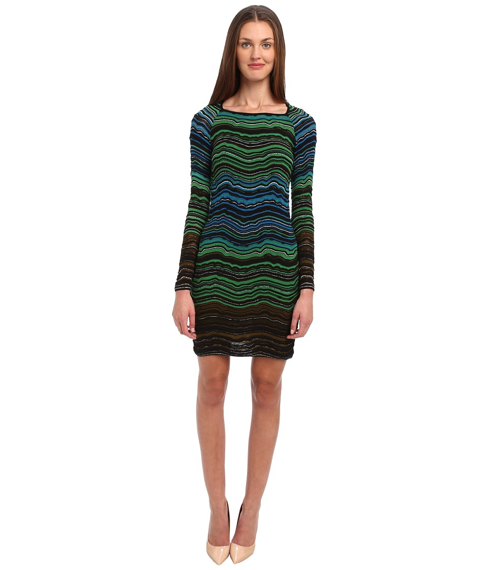 M Missoni - Fancy Ripple Knit Dress (Leaf) Women's Dress