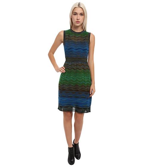 M Missoni - Degrade Ripple Knit Sleeveless Dress (Bright Blue) Women