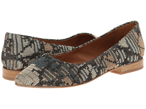 M Missoni - Lurex Pointed Toe Flat (Marine) Women