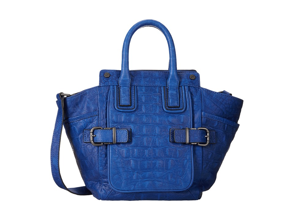 Kenneth Cole - Stitch With Me Satchel (Blue) Satchel Handbags