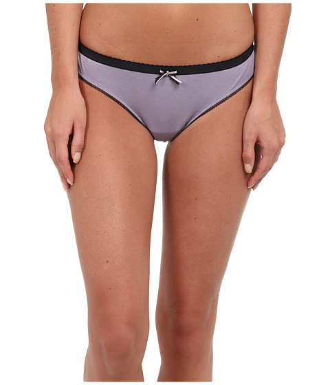 Emporio Armani - Romantic Touch Stretch Cotton Contrast Details Brasilian Brief (Amethyst) Women