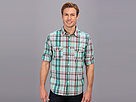 Seven7 Jeans - Plaid Shirt W Roll Cuff (Cool Mint) - Apparel