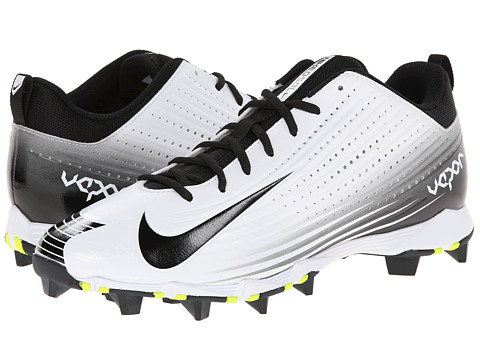 Nike - Vapor Keystone 2 Low (White/Black) Men's Cleated Shoes