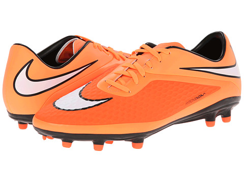 Nike - Hypervenom Phelon FG (Hyper Crimson/Atomic Orange/White) Men
