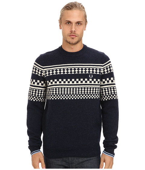Fred Perry - Tipped Island Knit Sweater (Navy) Men's Sweater