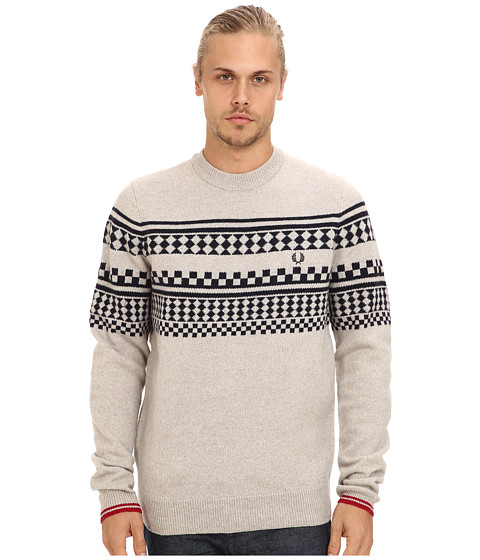 Fred Perry - Tipped Island Knit Sweater (Moonmist Marl) Men's Sweater