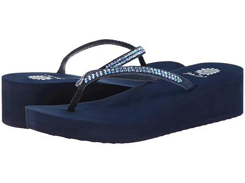 Yellow Box - Custard (Blue) Women's Sandals