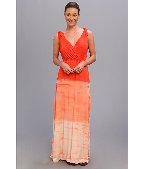 Pink Lotus - Free Love Maxi (Fire Orange) Women's Dress