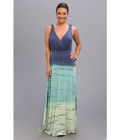 Pink Lotus - Free Love Maxi (Blue Lime) Women's Dress