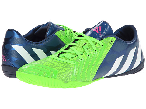 adidas - Predator Absolado Instinct IN (Rich Blue/Core White/Solar Green) Men's Soccer Shoes