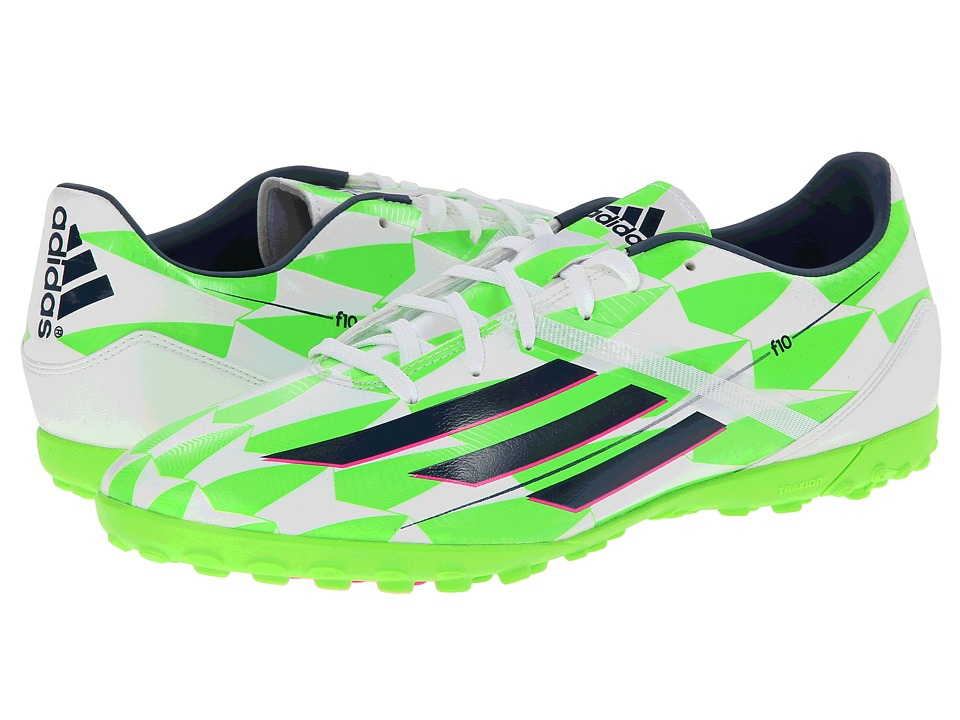 adidas - F10 TF (Core White/Rich Blue/Solar Green) Men's Shoes