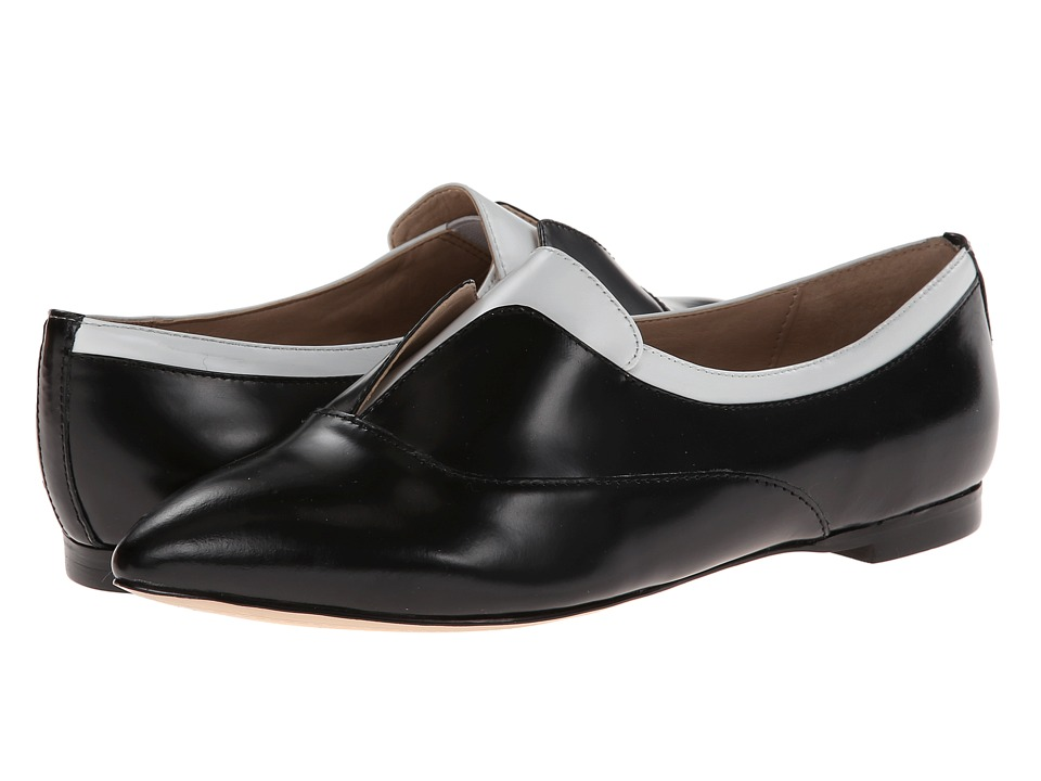 French Connection - Giovanna (Black/White) Women's Slip-on Dress Shoes