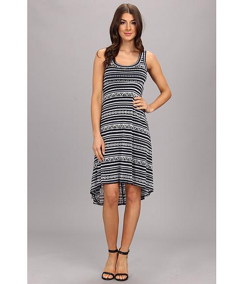 Karen Kane - Liberated Stripe Extended Hem Dress (Print) Women