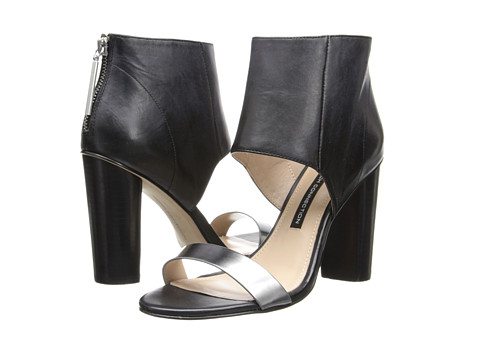 French Connection - Penny (Black/Pewter) High Heels