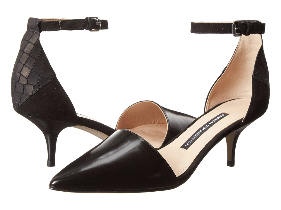 French Connection - Enora (Black/Black) High Heels