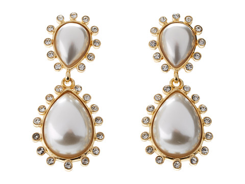 Kenneth Jay Lane - 8806EPP (Gold/Pearl) Earring