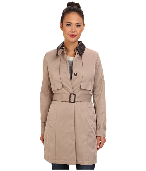 Cole Haan - City Rainwear Trench w/ Removable Quilted Liner (Maple Sugar) Women's Coat