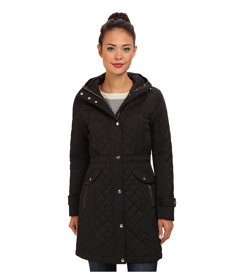Cole Haan - Essential Quilt Hooded Parka (Black) Women