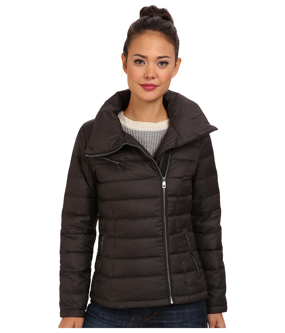 Cole Haan - Light Weight Packable Down w/ Asymmetrical Closure (Black) Women's Coat