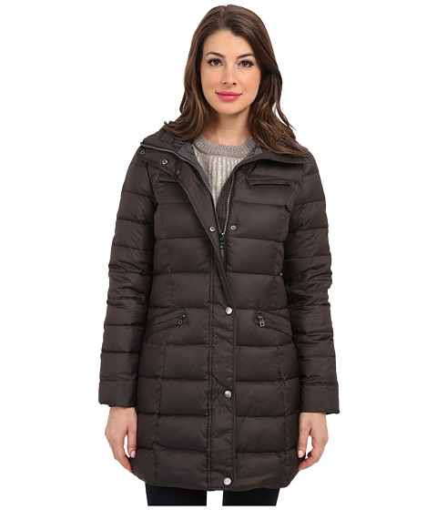 Cole Haan - Light Weight Packable Belted Down (Black) Women's Coat