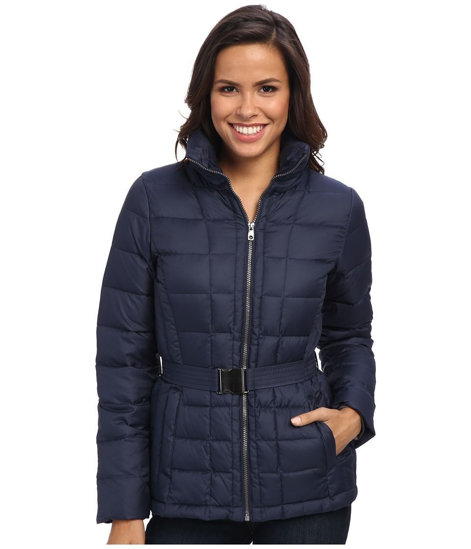 Cole Haan - Light Weight Zip Front Packable Down (Blazer Blue) Women's Coat