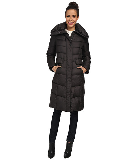 Cole Haan - Light Weight Down w/ Oversized Collar (Black) Women's Coat
