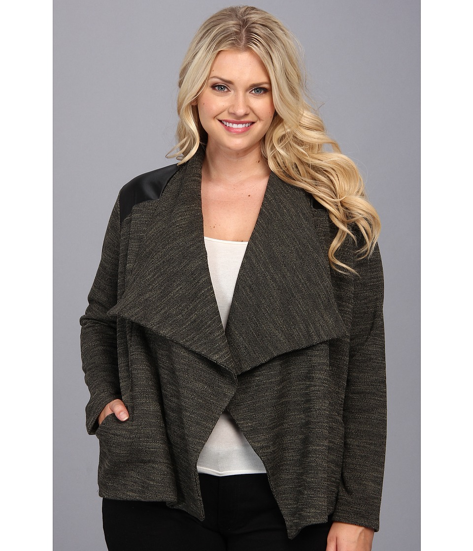 BB Dakota - Plus Size Benny Jacket (Spring Olive) Women's Sweater