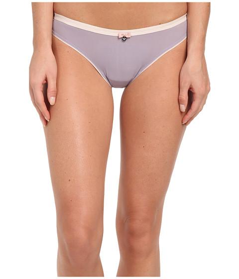Emporio Armani - Modern Lady Micro Paper Hands Brasilian Brief (Amethyst) Women's Underwear