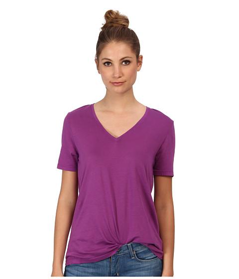 Three Dots - Short Sleeve V-Neck (Sparkling Grape) Women's Clothing