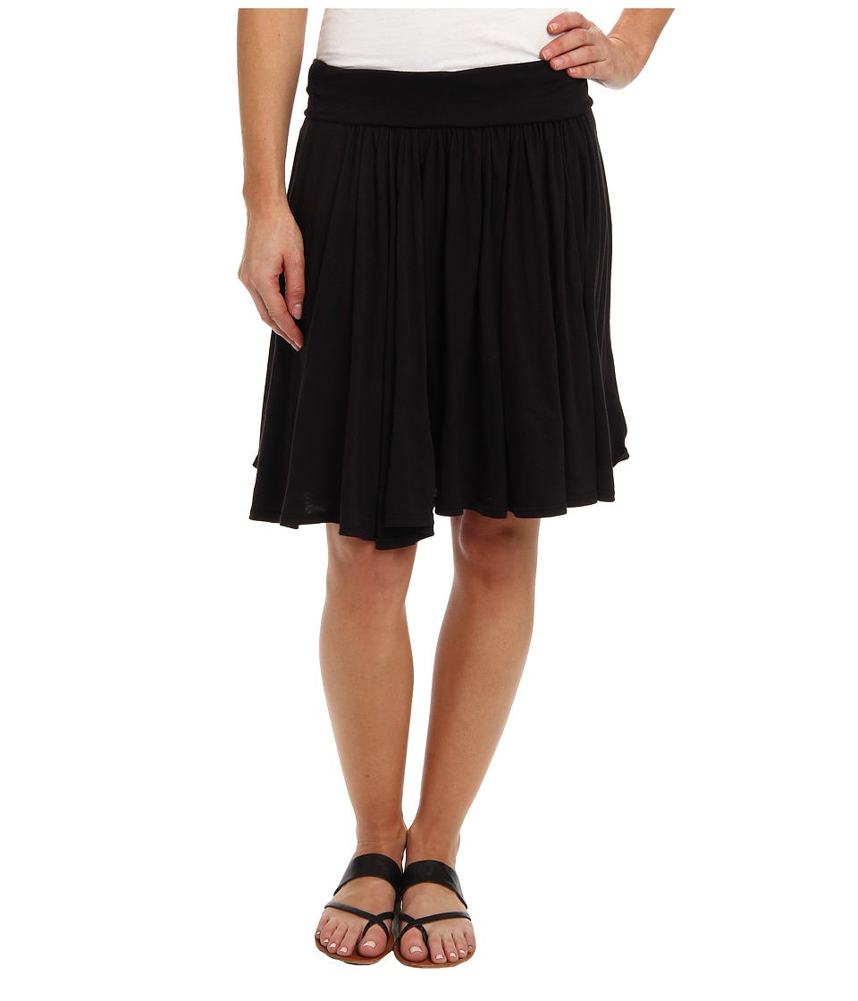 Three Dots - Jersey Colette Full Skirt (Black) Women