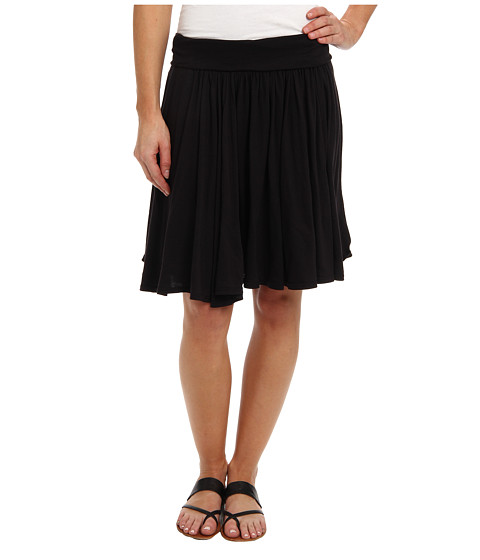 Three Dots Jersey Colette Full Skirt (Black) Women's Skirt