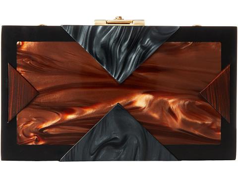 Rafe New York - Alicia Clutch (Brown/Black) Clutch Handbags