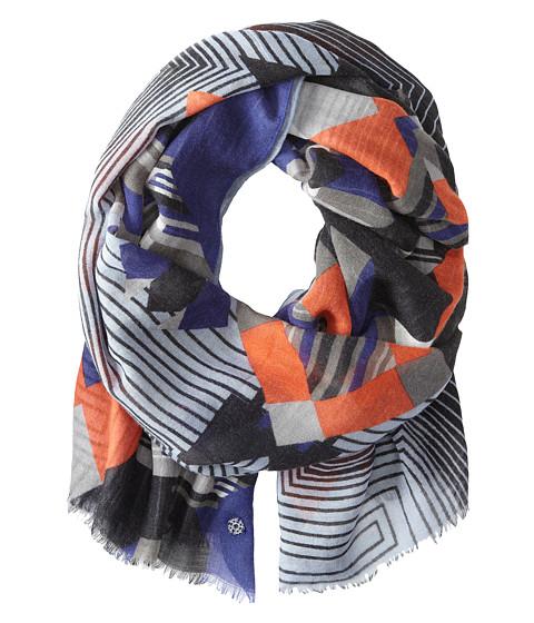 Rafe New York - Optic Stripe Scarf (Indigo) Scarves