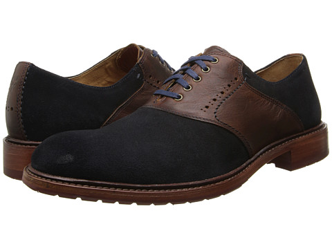 Trask - Empire (Navy Suede/Mahogany American Steer) Men's Shoes