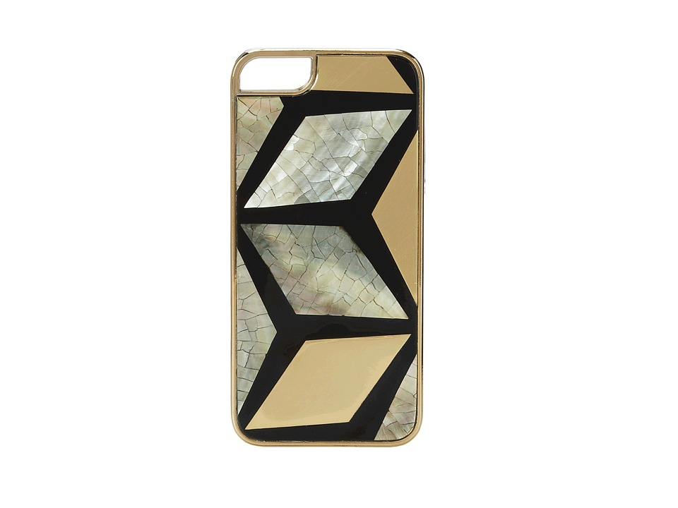 Rafe New York - Iphone 5/5S Phone Case (Black/Gold Dinamond) Cell Phone Case