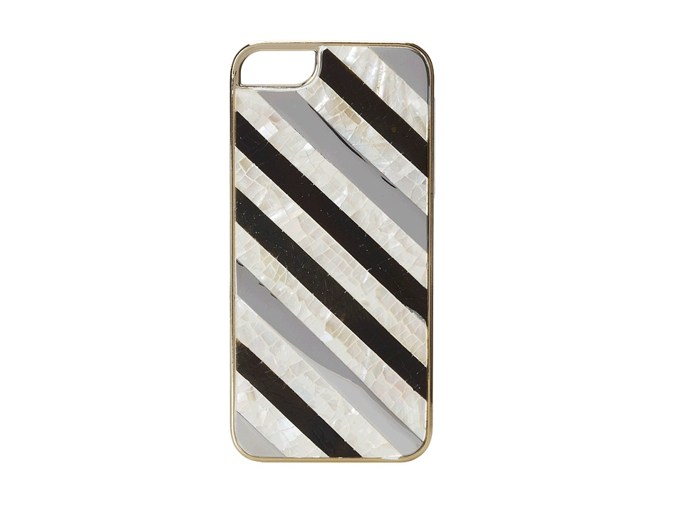 Rafe New York - Iphone 5/5S Phone Case (Ivory/Black/Silver) Cell Phone Case
