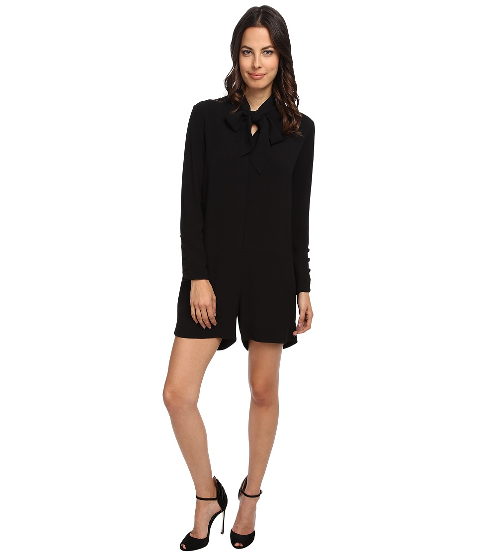 See by Chloe - L/S Romper (Black) Women's Jumpsuit & Rompers One Piece