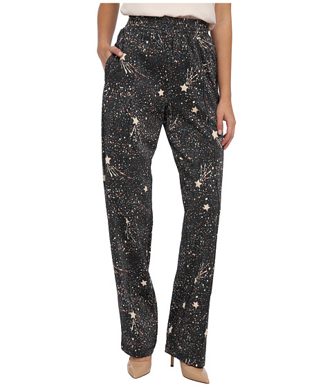 See by Chloe - Sweat Pants w/ Elastic Waist (Allover Printing Over Bla) Women