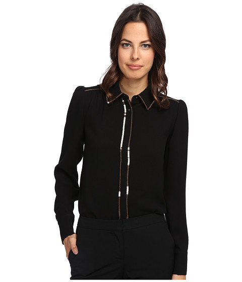 See by Chloe - L/S Shirt (Black) Women's Blouse