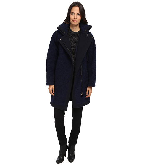 See by Chloe - Fur Effect Wool Coat (Blue) Women